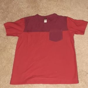 A red pocket shirt